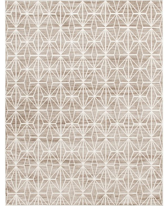 Jill Zarin Fifth Avenue Uptown Jzu002 Brown 8' x 10' Area Rug