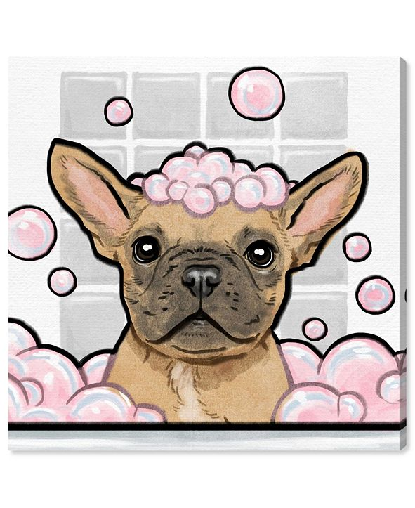 """Oliver Gal Bubbly Personality Square Canvas Art, 12"""" x 12"""""""
