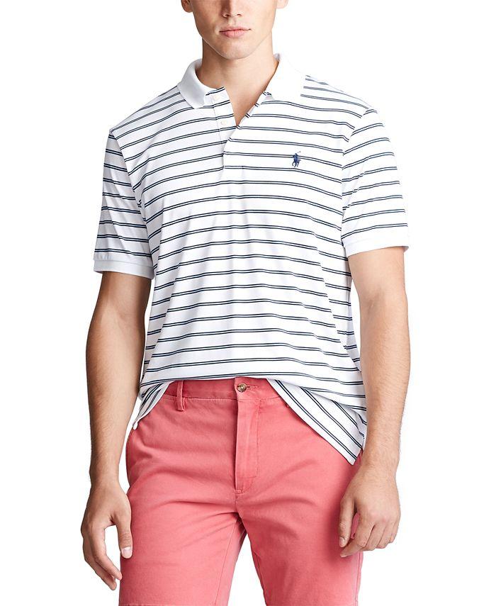 Polo Ralph Lauren Men's Classic Fit Stripe Polo Shirt & Reviews ...