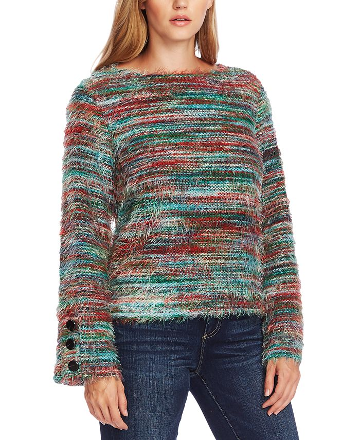 Vince Camuto - Eyelash-Knit Bell-Sleeve Sweater