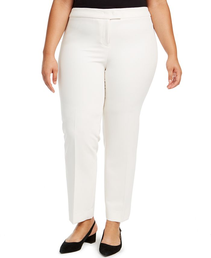 Anne Klein - Plus Size Straight-Leg Pants