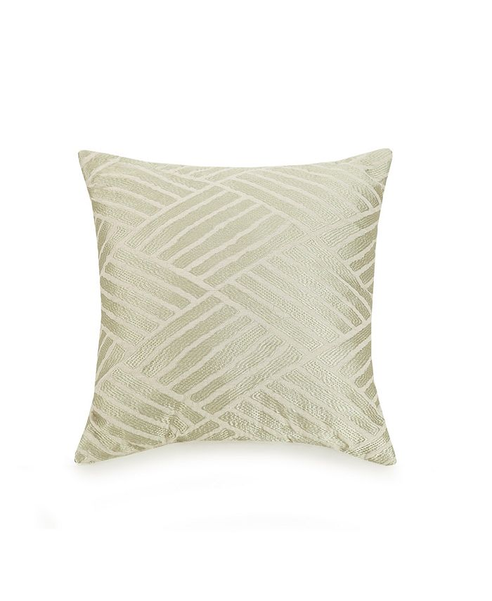 Trina Turk - Ayesha Curry Embroidered Geo 18 Square Decorative Pillow