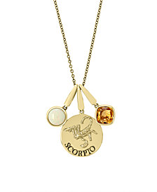 EFFY® Zodiac Multi-Gemstone (1 1/5 ct. t.w.) Scorpio Pendant in 14k Yellow Gold