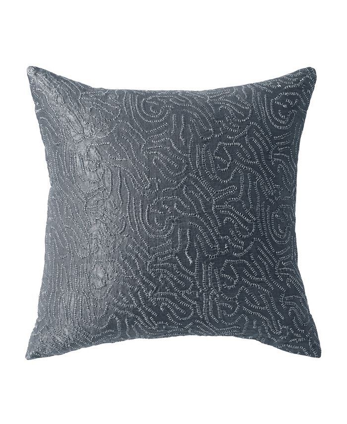 Donna Karan - Current 18 Square Metallic Sashiko Decorative Pillow