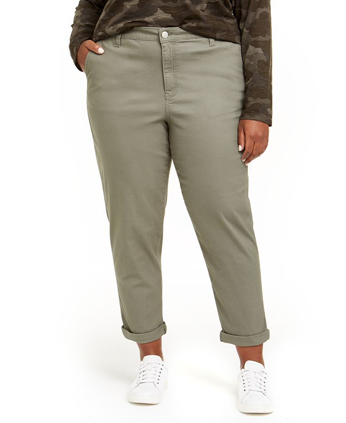 Celebrity Pink - Trendy Plus Size High-Rise Relaxed Trousers