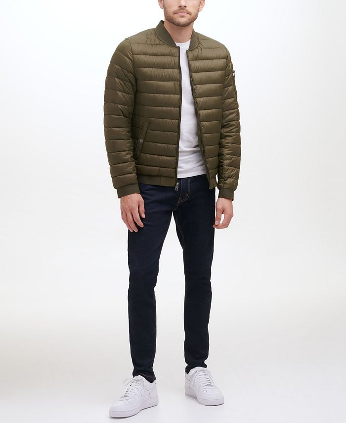 GUESS - Men's Quilted Bomber Jacket