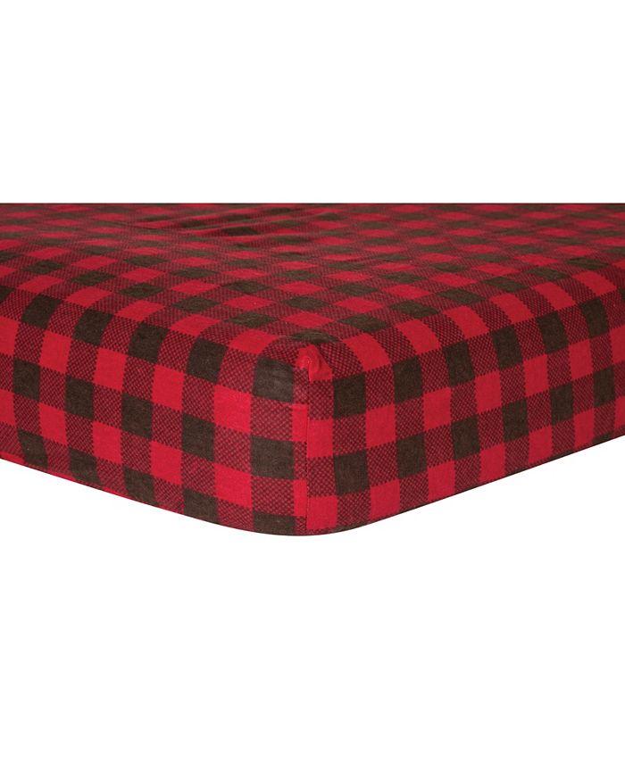 Trend Lab - Buffalo Check Flannel Crib Sheet