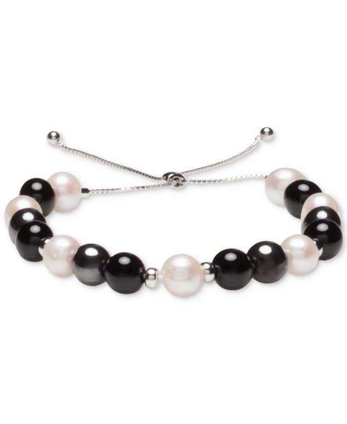 Macy's Multi-Stone Beaded Bolo Bracelet in Sterling Silver & Reviews - Bracelets - Jewelry & Watches - Macy's