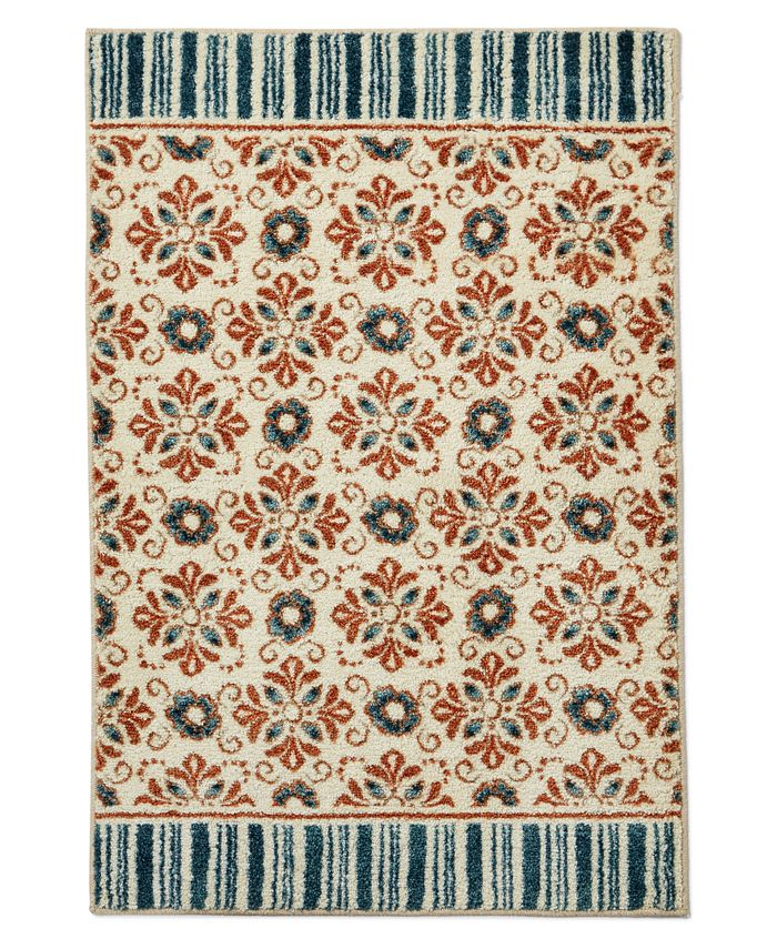 """Charter Club - October Floral Tile 30"""" x 45"""" Accent Rug"""