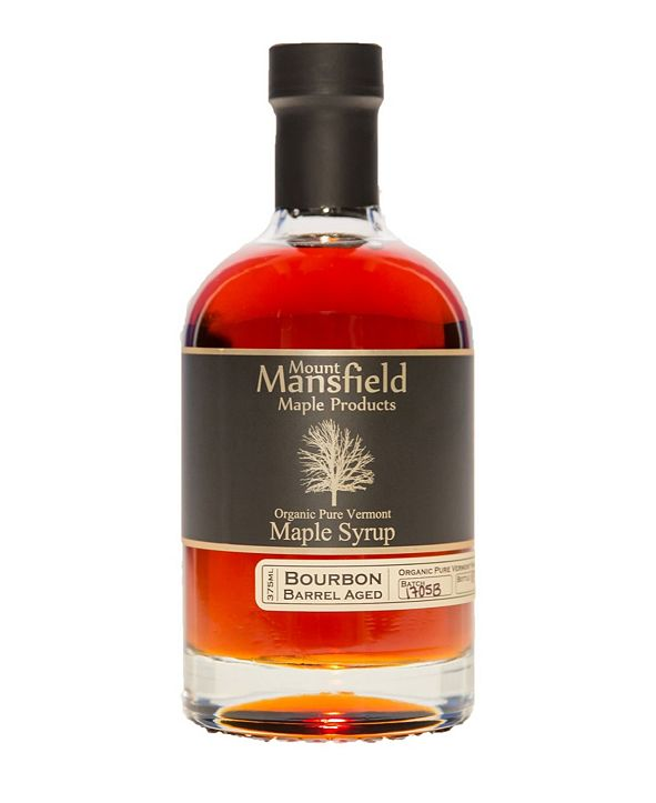Mount Mansfield Maple Products Bourbon Barrel Aged Organic Vermont Maple Syrup, 375 ml