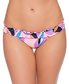 Salt + Cove Juniors' Kaleidescope Smocked Bikini Bottoms, Created for Macy's