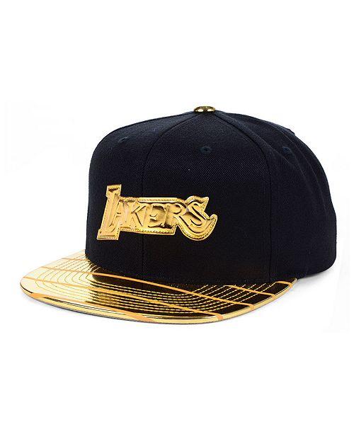 Mitchell Ness Los Angeles Lakers Black Gold Dna Snapback Cap Reviews Sports Fan Shop By Lids Men Macy S