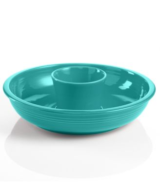 Fiesta Turquoise Chip and Dip Set