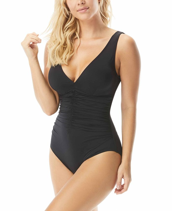 Coco Reef - Contours Solitare Underwire V-Neck One-Piece Swimsuit