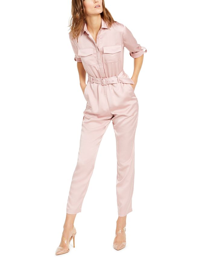 INC International Concepts - Button-Front Jumpsuit