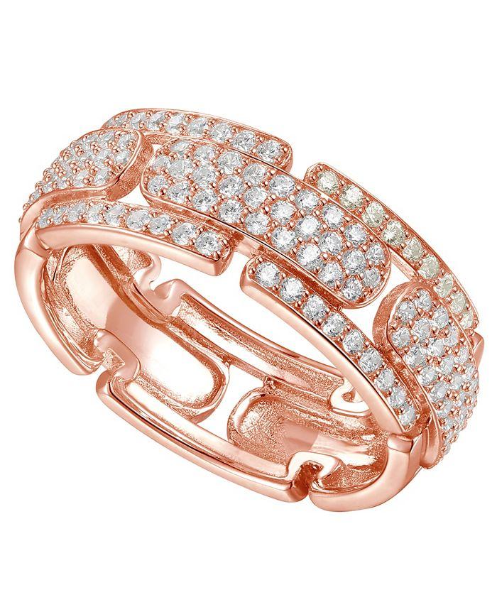 Macy's - 3/4 ct. t.w. Round Shape Diamond Ring in 14k Rose Gold