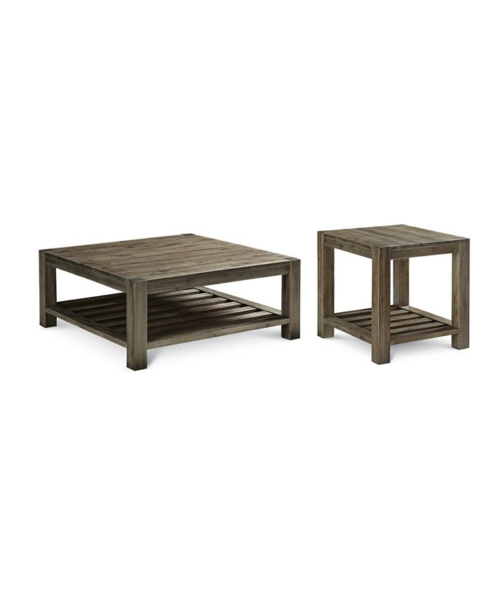 Furniture Canyon 2 Pc Set Coffee End Table Created For Macy S Reviews Furniture Macy S