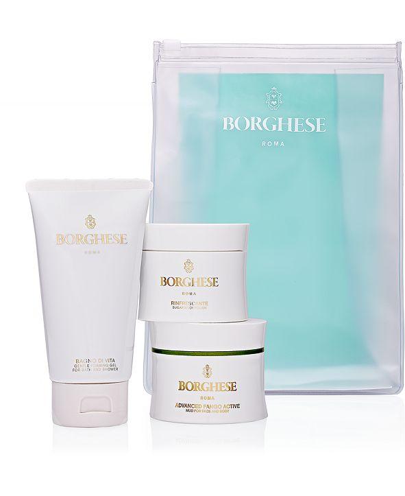 Borghese 4-Pc. Grin & Bare It Scrub, Detox & Glow Set