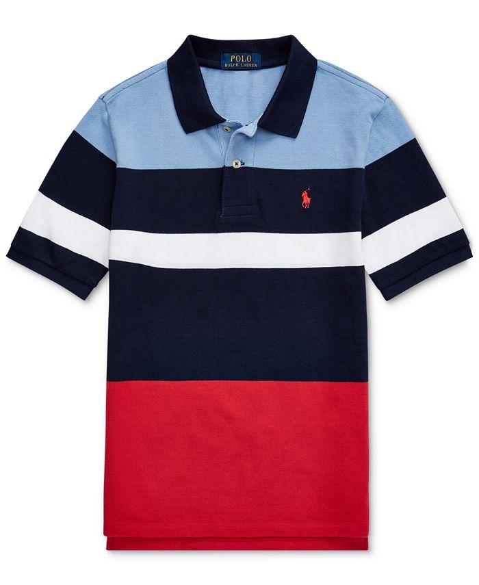 Polo Ralph Lauren Big Boys Striped Cotton Mesh Polo Shirt ...