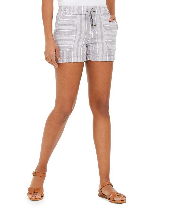 Style & Co - Striped Linen-Blend Shorts