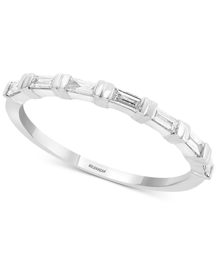 EFFY Collection - Diamond Baguette Bridal Ring (1/4 ct. t.w.) in 14k White Gold