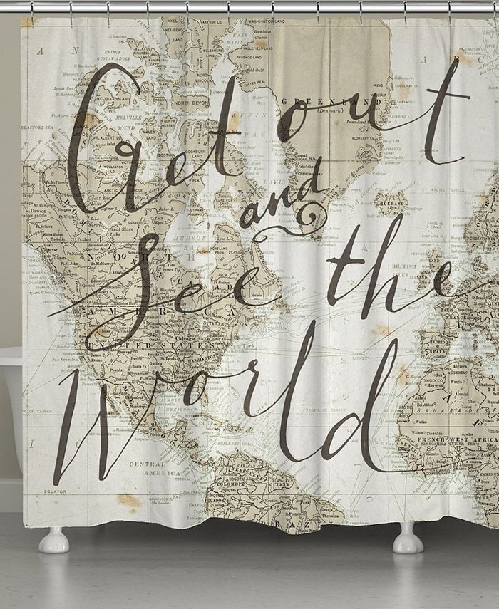 Laural Home - Get Out and See the World Shower Curtain
