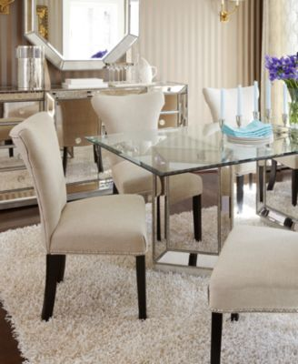 marais dining room furniture 5 piece set 54 mirrored dining table