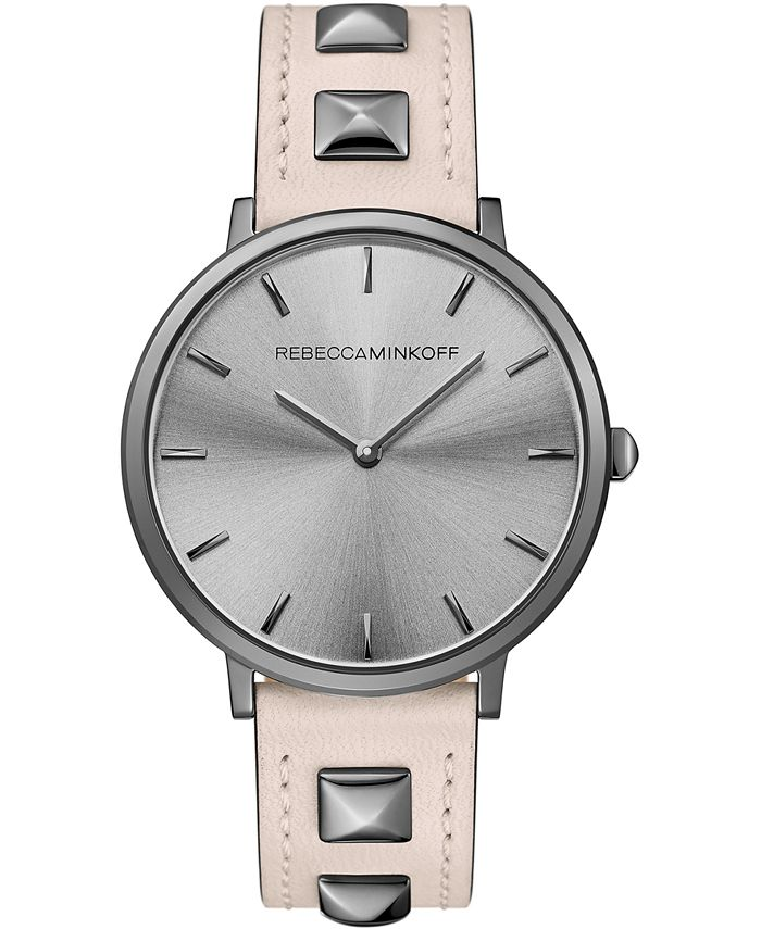 Rebecca Minkoff - Women's Major Blush Leather Strap Watch 35mm