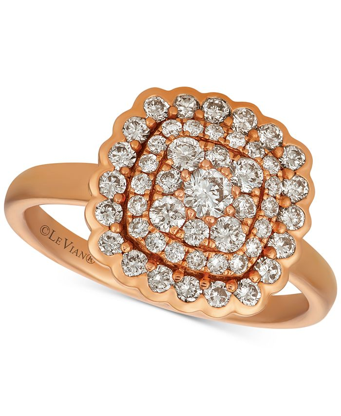 Le Vian - Nude Diamond Cluster Statement Ring (7/8 ct. t.w.) in 14k Rose Gold