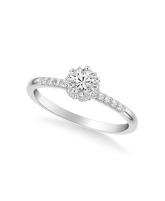 Macy's - Diamond Engagement Ring (5/8 ct. t.w.) in 14k White, Yellow or Rose Gold