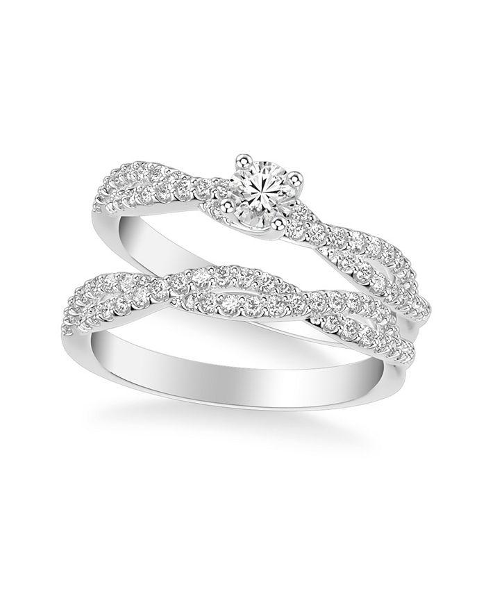 Macy's - Diamond Twist Bridal Set (5/8 ct. t.w.) in 14k White, Yellow or Rose Gold