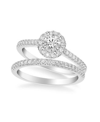 Diamond Halo Bridal Set (1 ct. t.w.) in 14k Yellow, White or Rose Gold