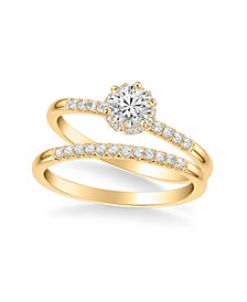 Diamond Bridal Set (3/4 ct. t.w.) in 14k White, Yellow or Rose Gold