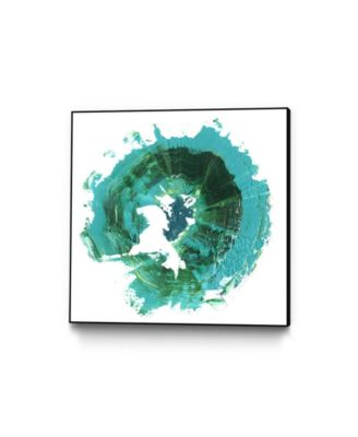 "20"" x 20"" Geode Abstract I Art Block Framed Canvas"