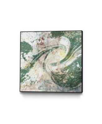 "30"" x 30"" Emerald Aerial Art Block Framed Canvas"