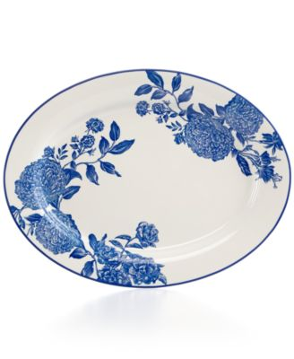 Martha Stewart Collection Orleans Cobalt Oval Platter