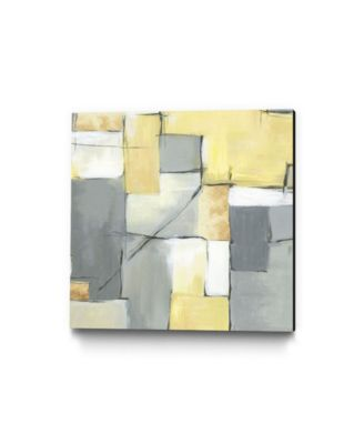 """30"""" x 30"""" Golden Abstract Museum Mounted Canvas Print"""