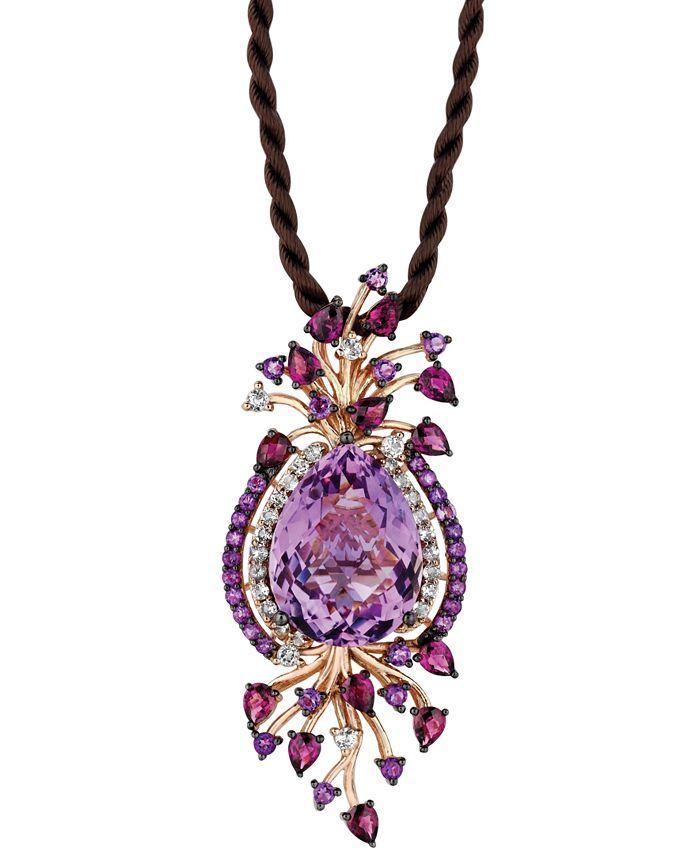 Le Vian - Multistone Cord Pendant Necklace in 14k Strawberry Rose Gold (18 ct. t.w.)