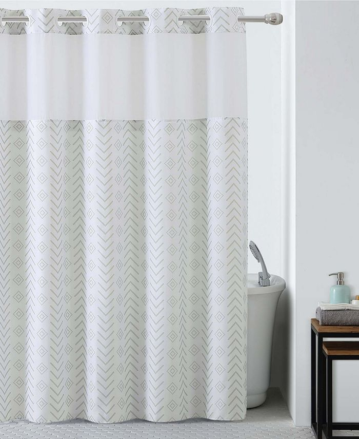 Hookless - Tribal Shower Curtain with Peva Liner