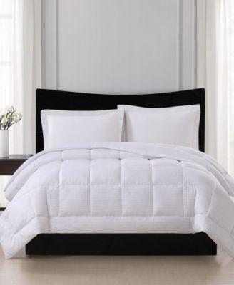 Embossed Stripe Seersucker Down Alternative Comforter, Full/Queen