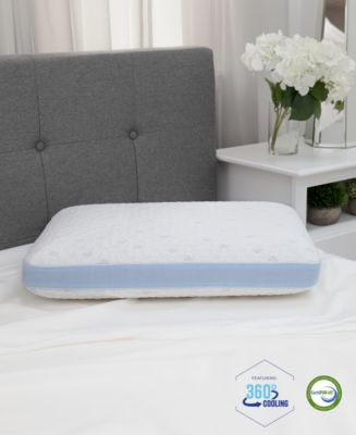 SensorGel OVERSIZED Pillow Cold Touch Gusseted Gel-Infused Memory Foam L97436