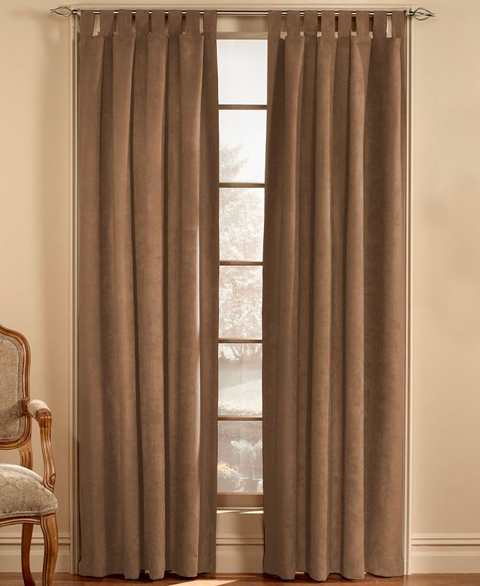 """CHF - Window Treatments, Faux Suede 50"""" x 63"""" Panel"""