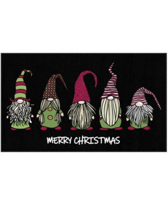 """Christmas Gnomes Accent Rug, 18"""" x 30"""""""
