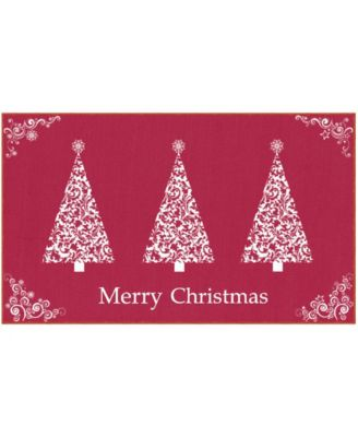 """Ornamental Trees Accent Rug, 24"""" x 40"""""""