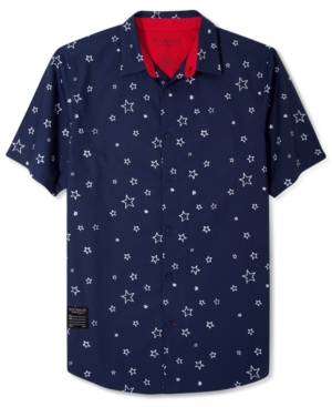 Rocawear Shirt Star Print Short Sleeve Shirt