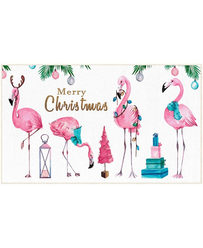 "Mohawk - Merry Flamingos Accent Rug, 18"" x 30"""