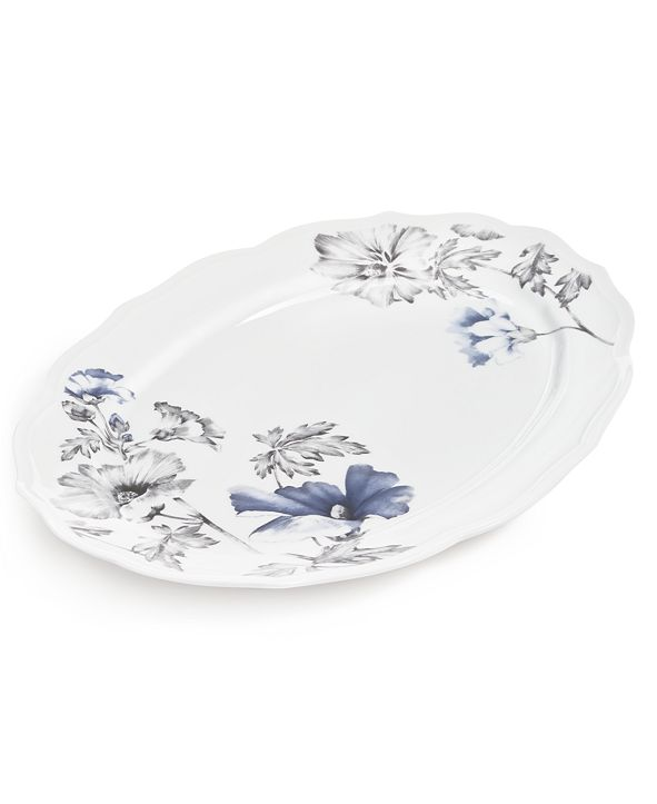 Hotel Collection Classic Morning Glory Platter, Created for Macy's