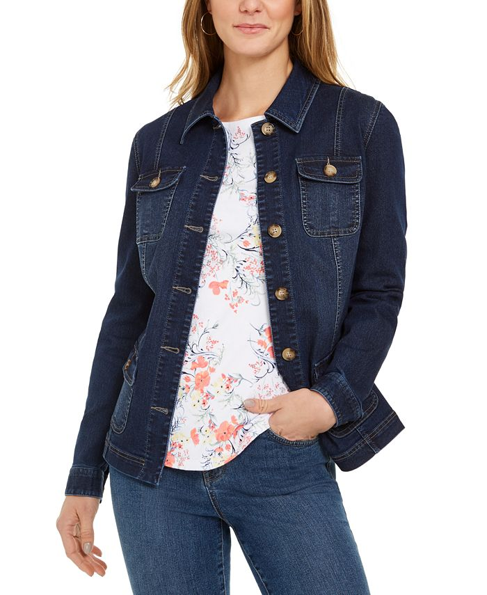 Charter Club - 4-Pocket Denim Jacket
