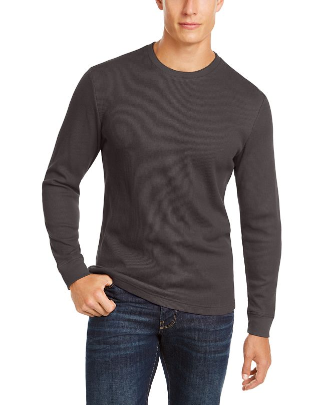 Club Room Men's Thermal Crewneck Shirt, Created for Macy's