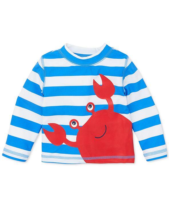 Little Me Baby Boys Striped Crab Rash Guard